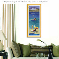 aegean sea - DIY Handmade Needlework Cross Stitch Set Embroidery Kit Precise Printed Aegean Sea Pattern Cross Stitching Home Decoration dandys