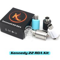 Wholesale Vaporizer KENNEDY RDA Kit Clone Rebuildable Atomizers Copper Center Post With Wide Bore Drip Tips Extra Glass Tube Fit Box Mods DHL Free