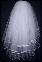 Wholesale 2015 Bridal Veils Buy Glamorous Multi Layer WhiteWedding Bridal Veils Lace Edge Bridal Accessories WH040103