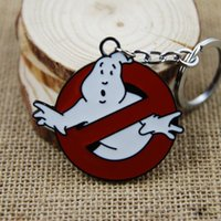 Wholesale Keychain Extreme Ghostbusters Pendant Key chains Zinc Alloy keychains Ring COS Cartoon Anime Movies