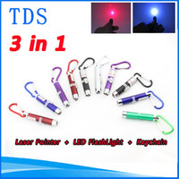 Cheap Red 3 in 1 5 mw Laser Pen Pointer Best No No Mini LED FlashLight