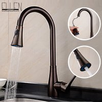 Wholesale Newest Hot kitchen faucet oil rubbed bronze kitchen sink taps pull out sprayer water mixers