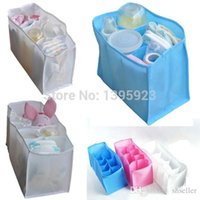 baby clothes dividers - Baby Kids Portable Diaper Nappy Water Bottle Changing Divider Storage Organizer Bag New S M L A5