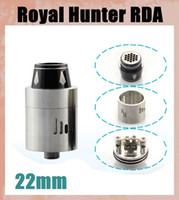 Replaceable Metal atomizer Vaporizer Royal Hunter RDA RH RDA Atomizer Mod SS Black Color 22mm Rebuildable Tank Stainless Steel Black 2 colors fit 510 Mods ATB267