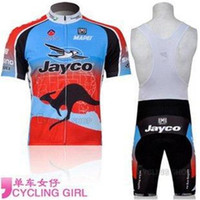 cycling jersey wholesale - 2014 new arrival crazy cycling jerseys Team Bike Jerseys set JAYCO team cycling jersey and Bib Pants south african cycling jersey C00S