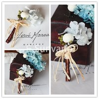 preserved flower - Preserved Flowers Groom Corsages Handsome Best Man on Wedding Crystals Fashion Boutonniere Formal Party Men s Corsage Hot Sale GC002