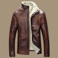Cheap Brown Leather Sheepskin Jacket | Free Shipping Brown Leather ...