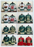 Wholesale Fast Minnesota Wild Ice Hockey Jersey Jason Zucker Cal Clutterbuck Devan Dubnyk Mikael Granlund Green White Ren Men s Jerseys