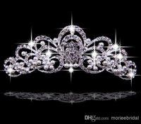Cheap 2015 Korea Hair Accessories Shining Wedding Bridal Crystal Veil Tiara Crown Headband Crown Wedding For Party
