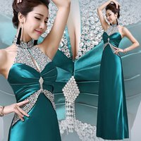 china prom dresses - 2016 New Cheap China Prom Dresses Halter Major Beading Backless Long Modest Real Photos Gold Red In Stock Evening Party Occasion Gowns