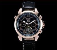 Nuova pelle degli uomini di arrivo JARAGAR guardano numero d'oro mens immersione meccanica risalgono automatico orologi di lusso sportivo
