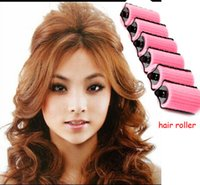 Wholesale Hair Roller pieces not Hurt Hair Curler Natural Curl Looking Styling tools Self use to make hair curling