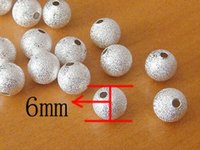 Wholesale BUY mm Silver Plated Stardust Beads Spacer Beads Jewelry Findings Jewelry Accessories Jewelry Fittings