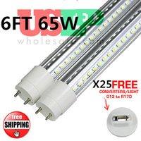 Wholesale 25pcs V Shaped FA8 G13 T8 Led Tube Light FT M mm SMD W lm Cooler Door Led Fluorescent lights Double Glow lamp