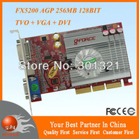 agp geforce - New NVIDIA GeForce FX5200 AGP Video Card MB BIT DDR TVO VGA DVI FX Dropship with tracking number