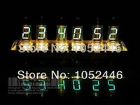 antique lead crystal lamps - christmas lights Limited edition IV fluorescent tubes finished electronic clock DIY kit Crystal Castles lamp