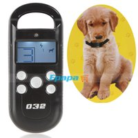 aids screening - LCD Screen M Remote Cat Dog Pet Training Collar Bark Stop Shock Collar Training Aid Device with Electric Vibra Level