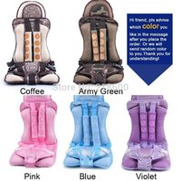 Wholesale Good quality portable Baby Car Seats Child safety car seat infant baby Protect Cover for children Brown Auto harness carrier