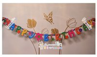 Wholesale Birthday party banner banner Party Happy birthday variety of birthday letters brace flower
