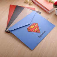 Wholesale Superhero file folder A4 bag document bag Creative stationery students captain America superman Avengers Folders for papers envelope folder