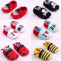 Wholesale Spring Fall Baby First Walker Shoes Cartoon Spider man Superman Owl Elephants Toddler Soft Bottom Shoes Year Infant Shoe