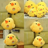 Wholesale Cute Yellow Chicken Pillow Doll Toys cm Lovely Animals Plush Toys Stuffed Kids Birthday Holiday Gifts MYF23