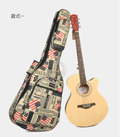 Gig Bags acoustic cloth - belief14 Oxford cloth newspaper acoustic guitar bag inch folk backpack set of waterproof thickening Case bag