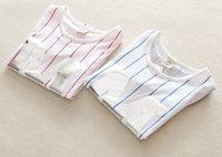 lycra t shirt - The Latest Summer Children Korean Striped Short Sleeve T shirt Kids Lycra Letter M Printed Boys Soft Comfortable T Shirt Pink Blue N0242