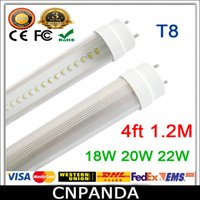 20w led bulb - Low Price Fedex T8 LED Tubes ft W W W lm Lights Lamps V SMD Led Fluorescent Bulbs Lighting mm M Feet V