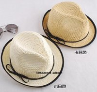 article rattan - Black edge hook flower bowknot ribbon rattan plaited articles women straw hat color mix