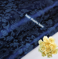 antique doll clothes - 2m width cm Chinese clothing Brocade cloth doll dress costume Hanfu antique garments fabrics brocade Blue Dragon