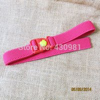 Wholesale kids boys girls elastic belts soft adjustable belts for children kids fabric belts with elastic
