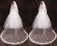 atmospheric layers - High end European and American trade atmospheric veil bride upscale net yarn lace big lace sequined wedding accessories HY00160