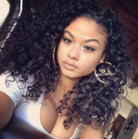 Cheap 100% naked Virgin human hair full lace wig& lace front wig curly natural hair line with baby hair lace wigs for black women
