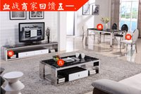 Wholesale Modern Stainless steel furniture used for dinning room tv bench