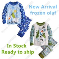 arrival pyjamas - New Arrival Frozen Olaf Long Sleeve Pajama Set Cotton Kids Clothing Boy Sleepwear Children Pyjamas PJ Pal