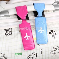 Wholesale COOL Suitcase Shaped Soft pvc Luggage Tag Mix colors for Chirstmas gifts