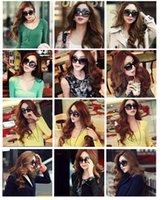 retro style sunglasses - Womens Retro Classic Big Frame Sunglasses Fashion Simple Super Star Cool Black Glasses European Styles UV Protection Sunglass Gift