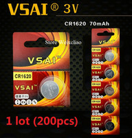 Wholesale CR1620 V lithium button cell battery for car keychain battery camera toy watch remote control VSAI