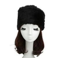 al por mayor cosaco ruso negro sombrero-Al por mayor-Nueva Moda ruso cosacos Hat para WomenFaux Piel Flat Top estampado leopardo sólido de lujo del casquillo del sombrero del bombardero Sombreros Marrón / Blanco / Negro