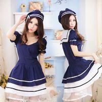 Wholesale Sexy cute students dress sailor uniform cosplay uniform temptation disfraces adultos sexy school girl costume