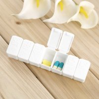 bamboo medicine - 1pc One Week days small Medicine Pill Drug Box Pill Drug Mini Pillbox Container Non removable plastic Case low price