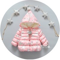 age star - Sequins Star Kids Coat For Winter New Arrival Girls Thicked Hooded Outwear Fashion Velvet Children Cotton Top Fit Age SS789