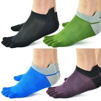 cotton five toe socks - 5 Pair New Men s Socks Cotton Meias Sports Five Finger Socks Toe Socks For EU Calcetines Ankle Sok Drop Shipping