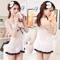 angels panties - 2014 White Transparent Fashion Apparel Cute Sexy Panties Thong Lada Garters Sex Products Pyjamas Women Black Wings Angel Dress