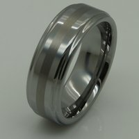 Wholesale 2tone shiny brush mm width men women hi tech scratch proof tungsten ring