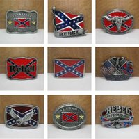 Wholesale American by Birth Southern Grace of God Western Belt Buckle Pride Rebel Flag USA For Men