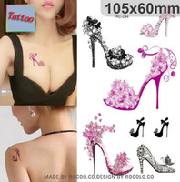 art high heels - Temporary tattoos Waterproof tattoo stickers body art Painting for party event decoration high heeled shoes
