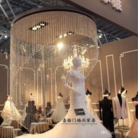 Wedding Table Decoration acrylic cake - 1 Meters long Shiny Acrylic Crystal Bead Hanging Strand Manzanita Trees Hung Strands Strung Party Wedding decorations supplies styles