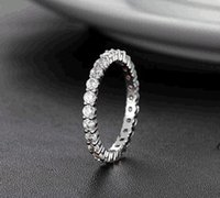 Wholesale JEWELRY Designer Sweet Platinum Plated Wedding Ring CZ diamond Ring Elegant Vogue Engagement Jewelry For Women